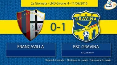 2° Campionato - Francavilla - FBC Gravina
