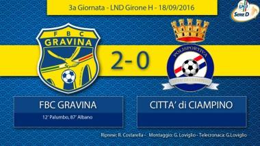 3° Campionato - FBC Gravina - Città di Ciampino