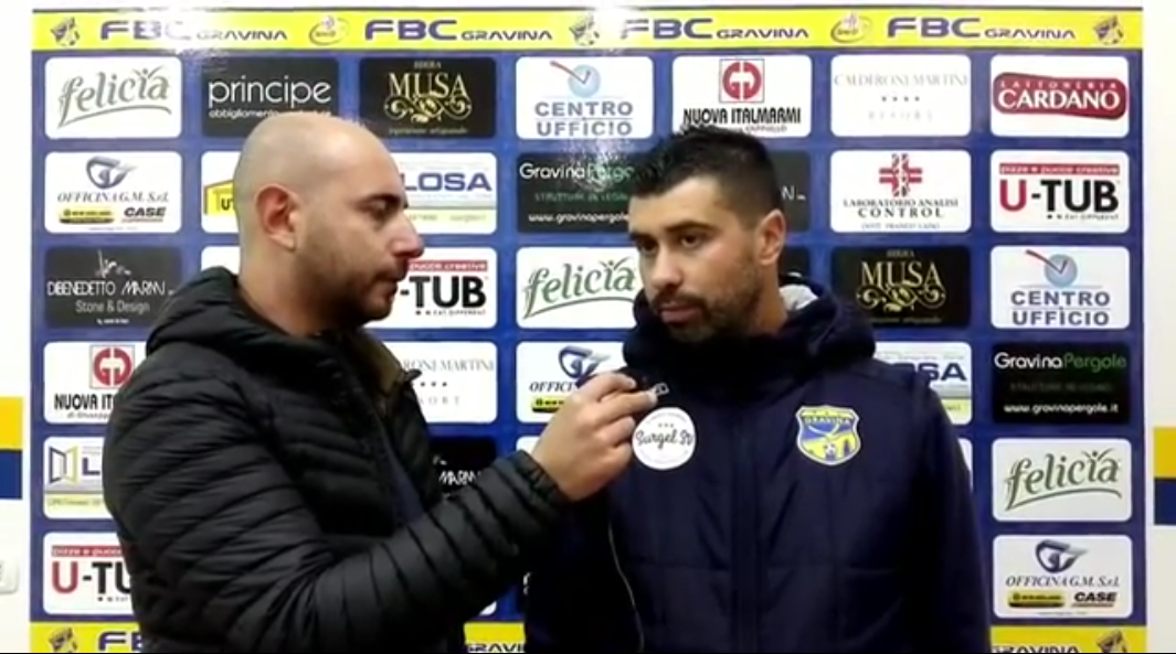 Intervista a mister De Luca, post partita FBC Gravina-Nardò