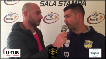 Intervista a Mister De Luca, post partita Gelbison- FBC Gravina