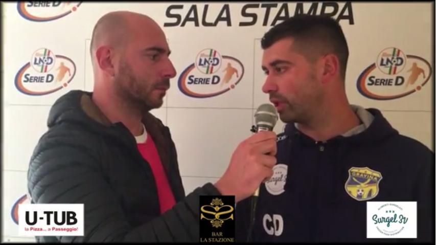 Intervista a mister De Luca, post partita Vultur Rionero- FBC Gravina