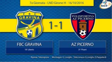 7a Giornata LND Girone H: FBC Gravina- Az Picerno