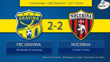 11a Giornata LND Girone H: FBC Gravina- Nocerina