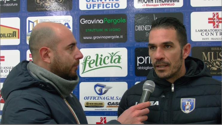 Intervista a mister D'Agostino post partita FBC Gravina – Anzio Calcio