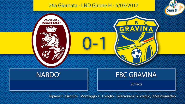 26a Giornata- LND Girone H: Nardò- FBC Gravina