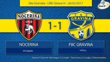 28a Giornata- LND Girone H: Nocerina- FBC Gravina