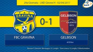 29a Giornata- LND Girone H: FBC Gravina- Gelbison Vallo