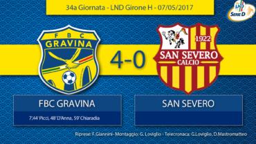 34a Giornata- LND Girone H: FBC Gravina- San Severo