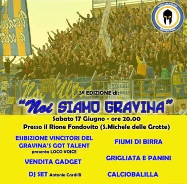 """3a Edizione """"Noi Siamo Gravina"""", la festa del tifo gialloblu"""