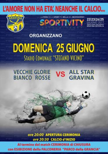 FBC Gravina & Sportivity nel segno del calcio amarcord