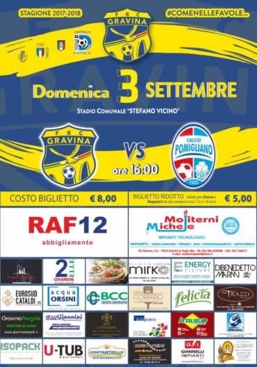 Il Pomigliano inaugura la stagione 2017/2018 della FBC Gravina