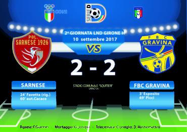 2a Giornata LND Girone H: Sarnese- FBC Gravina