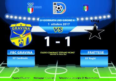 5a Giornata LND Girone H: FBC Gravina- Frattese