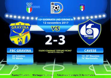 12a Giornata LND Girone H: FBC Gravina- Cavese