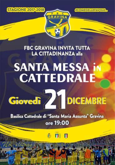 Messa di Natale Giovedì in Cattedrale per la FBC Gravina
