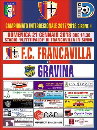 Francavilla- FBC Gravina: info accesso e biglietti