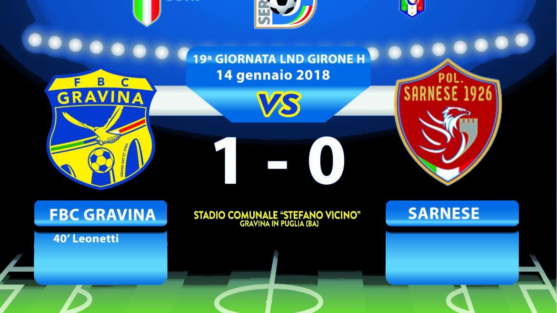 19a Giornata LND Girone H: FBC Gravina- Sarnese