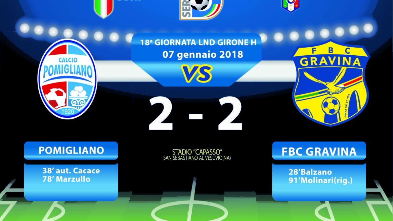 18a Giornata LND Girone H: Pomigliano- FBC Gravina