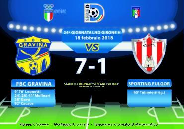 24a Giornata LND Girone H: FBC Gravina- Sporting Fulgor