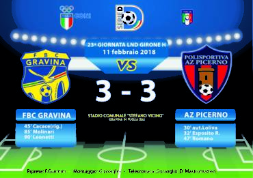 23a Giornata LND Girone H: FBC Gravina- Az Picerno