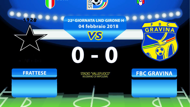 22a Giornata LND Girone H: Frattese- FBC Gravina