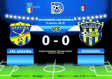 26a Giornata LND Girone H: FBC Gravina- Gragnano