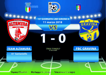 15a Giornata LND Girone H: Team Altamura- FBC Gravina