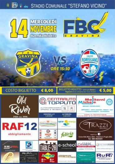 FBC Gravina – Pomigliano, per i gialloblu è l'ora della svolta
