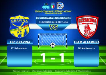 19a Giornata LND Girone H: FBC Gravina – Team Altamura