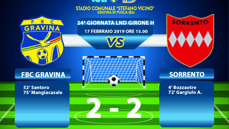 24a Giornata LND Girone H: FBC Gravina – Sorrento