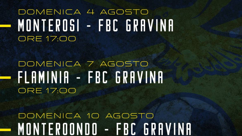 FBC Gravina, il carnet delle amichevoli a Cascia
