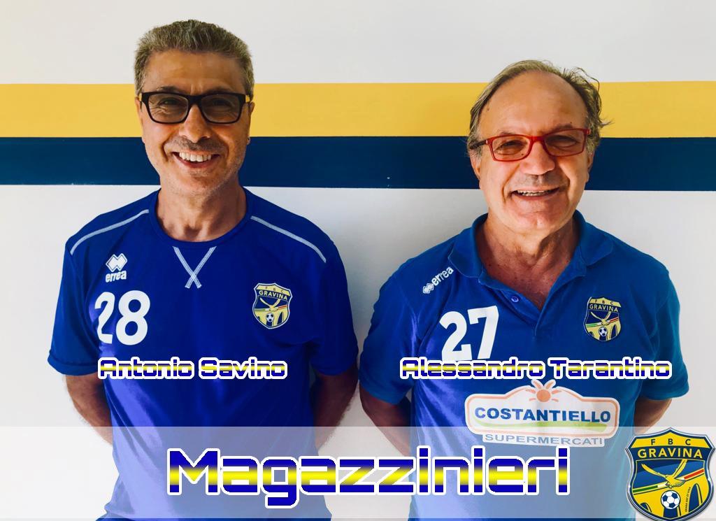 Tarantino e Savino, magazzinieri della FBC nella stagione 2019/2020