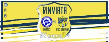 Rinviata Portici – FBC Gravina