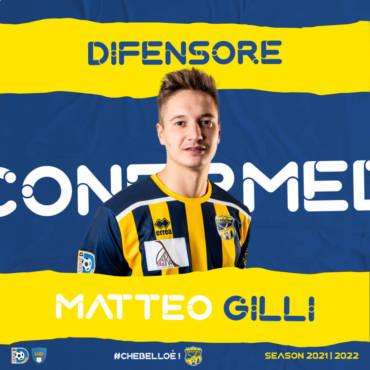 Matteo Gilli riconfermato per la stagione 2021/2022