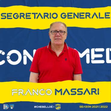 Massari segretario generale per la stagione 2021/2022