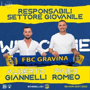 Giannelli e Romeo nuovi responsabili del settore giovanile FBC